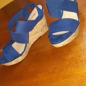 Blue American Eagle Sandals By Payless